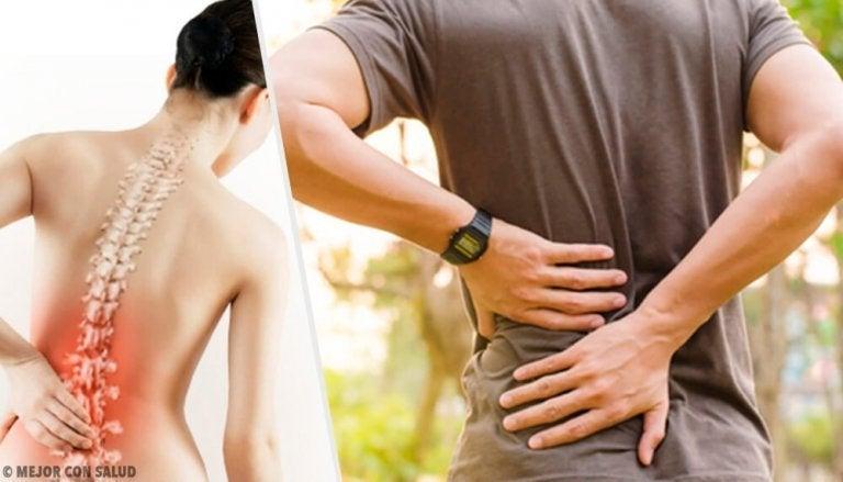 허리 통증을 유발하는 건강상의 문제 6가지