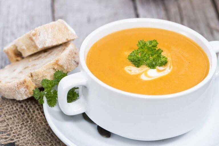건강에 좋은 채소 크림 수프