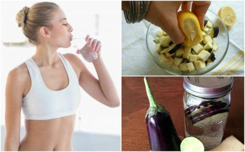 체중 감량에 좋은 가지 레몬 물 만드는 방법
