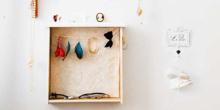 상자로 만든 재미있는 공예품 액세서리 보관함