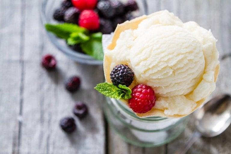 바닐라 아이스크림 저칼로리 디저트 레시피
