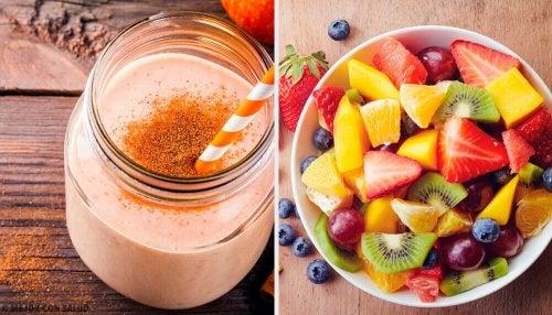 일주일 동안 매일 아침 먹는 영양 스무디 7가지