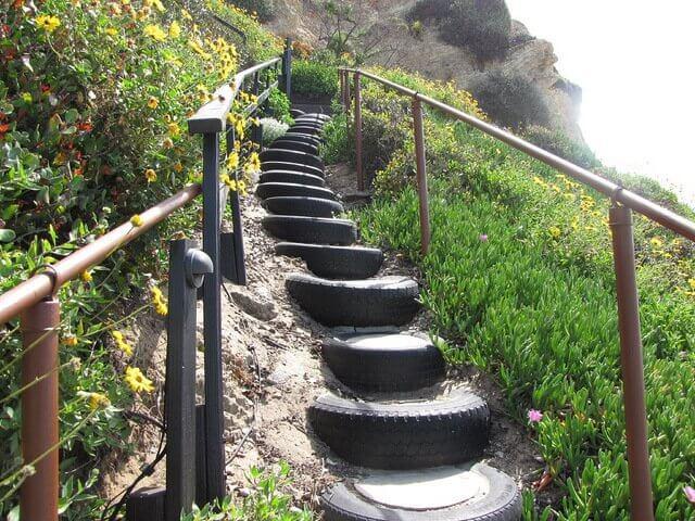 타이어 계단