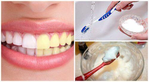 치아 미백에 도움이 되는 천연 재료