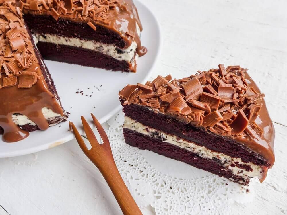 디저트 레시피 - 1. 호두와 아몬드가 들어간 초콜릿 케이크