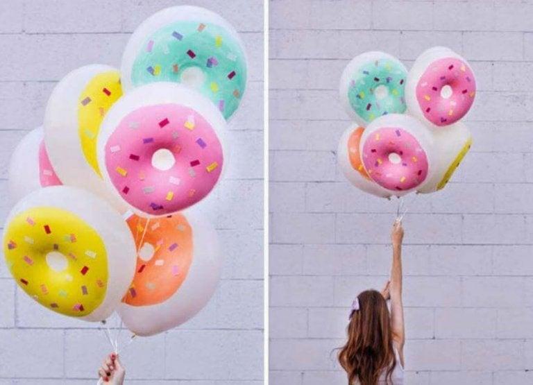 풍선 장식 도넛