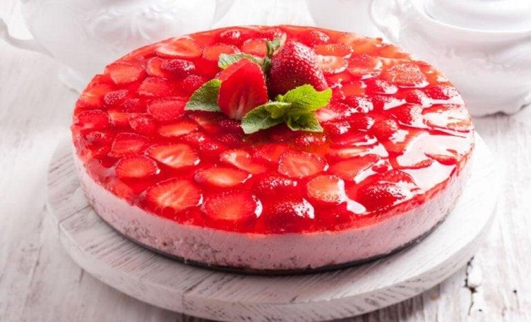 1. 젤라틴이 들어가는 딸기 케이크