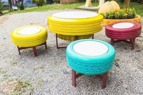 낡은 타이어를 재활용하는 8가지 방법