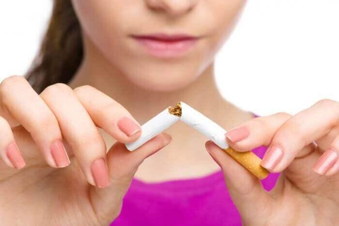 담배 피지 않기