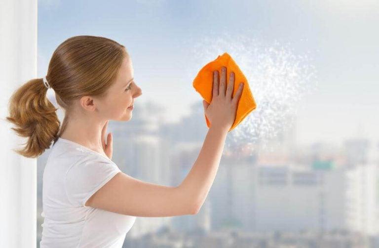 창문을 깨끗하게 청소하는 방법