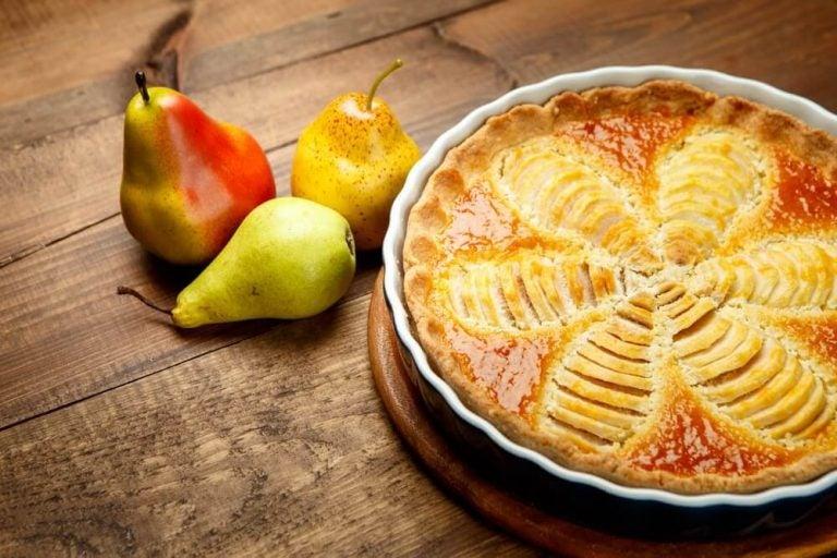 다이어트를 위한 건강한 디저트, 배 파이