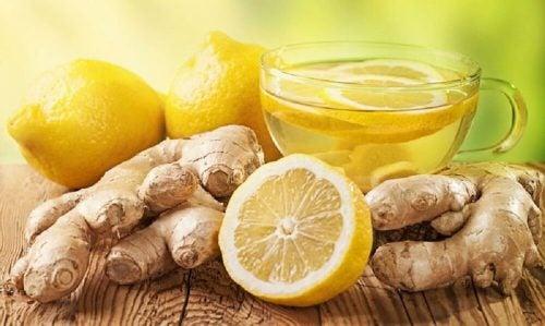 복통을 완화하는 천연 요법 4가지 레몬과 생강