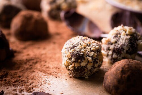 저칼로리 초콜릿 트러플
