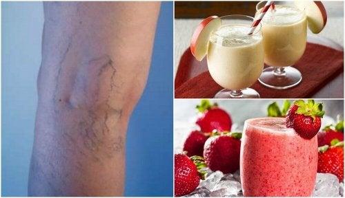 정맥류와 순환기 질환을 줄여주는 5가지 스무디