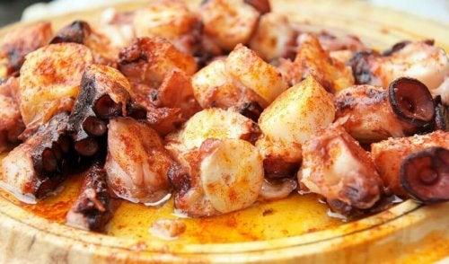 맛있는 홈메이드 스페인식 문어 요리 레시피