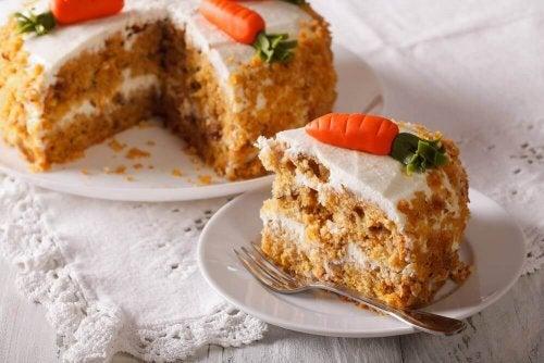 달걀 없이 맛있는 무지방 당근 케이크 만들기