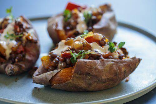맛있는 구운 감자 요리