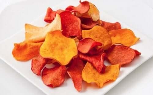 야채칩을 만드는 방법