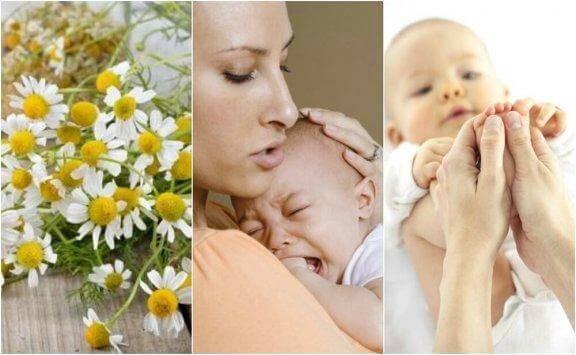 아기 배앓이에 도움이 되는 5가지 자연 요법