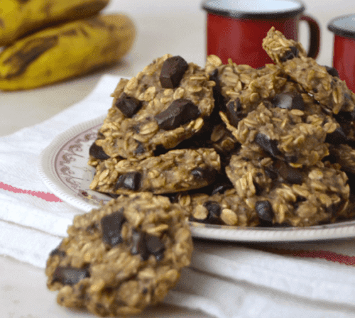 설탕과 버터를 넣지 않고 만드는 오트밀 쿠키