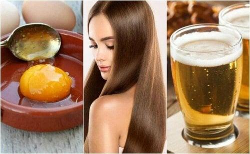 부드럽고 건강한 모발을 위한 달걀 맥주 트리트먼트