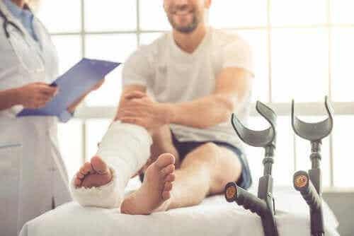 피로골절이 발생하는 부위