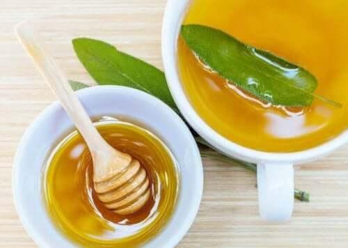 피부 상처 치유 효과가 있는 세이지와 꿀