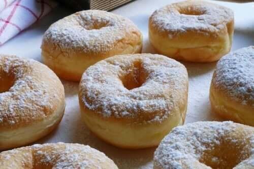 둘세데레체의 소로 만든 맛있는 도넛
