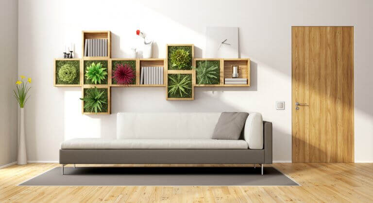 3. 식물로 덮인 벽