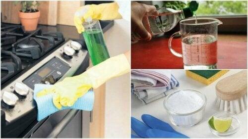 친환경 재료로 가스레인지 청소하는 방법