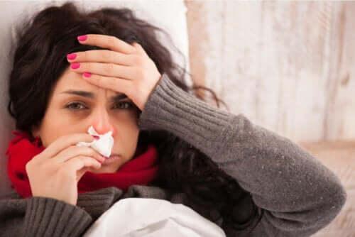 집에서 감기를