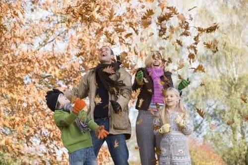 가을철의 이상적인 야외 활동