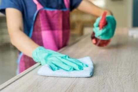 백식초로 집 청소를 하는 방법