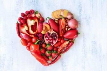 붉은 과일과 채소의 영양학적 가치