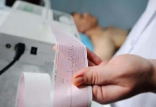 심장막 삼출을 발견하는 검사
