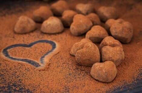 건강한 초콜릿 디저트