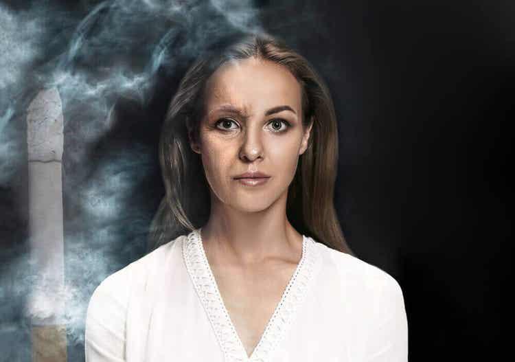 흰머리가 흡연