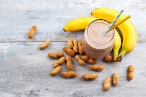 땅콩버터 바나나 에너지 셰이크 만드는 방법